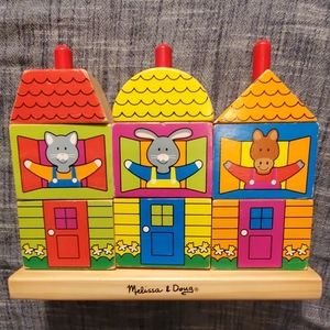 ⭐Melissa & Doug Wooden Stacking Blocks